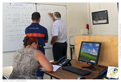 Le service de la sécurité civile de Toulon